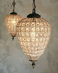 Antique Reproduction Teardrop Versailles Chandelier Lamp-antique, French,lighting, crystal, hand beaded, glam, shabby chic