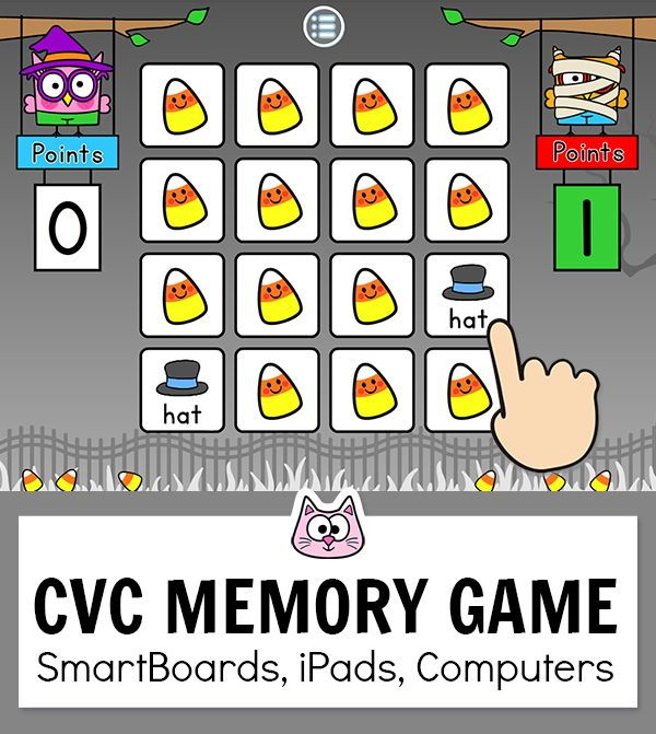 Cvc Game Short Vowel Sounds Memory Game In Class Distance Learning Online Games For Kids Game Websites For Kids Phonics Games Online Phonics online games for kindergarten
