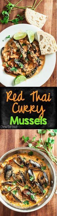 Red Thai Curry Musse Red Thai Curry Mussels. Healthy Light BIG...  Red Thai Curry Musse Red Thai Curry Mussels. Healthy Light BIG flavors. Perfect appetizer or meal for seafood fans. #seafood #thai #curry www.chewoutloud.com Recipe : http://ift.tt/1hGiZgA And @ItsNutella  http://ift.tt/2v8iUYW