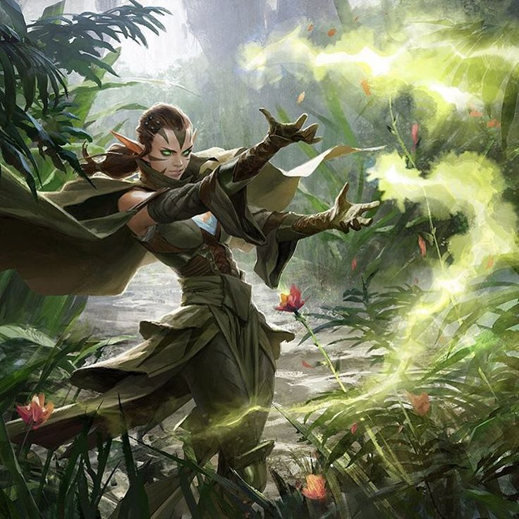 """another Nissa painting for Magic : The Gathering, looking forward to seeing it on the card"""