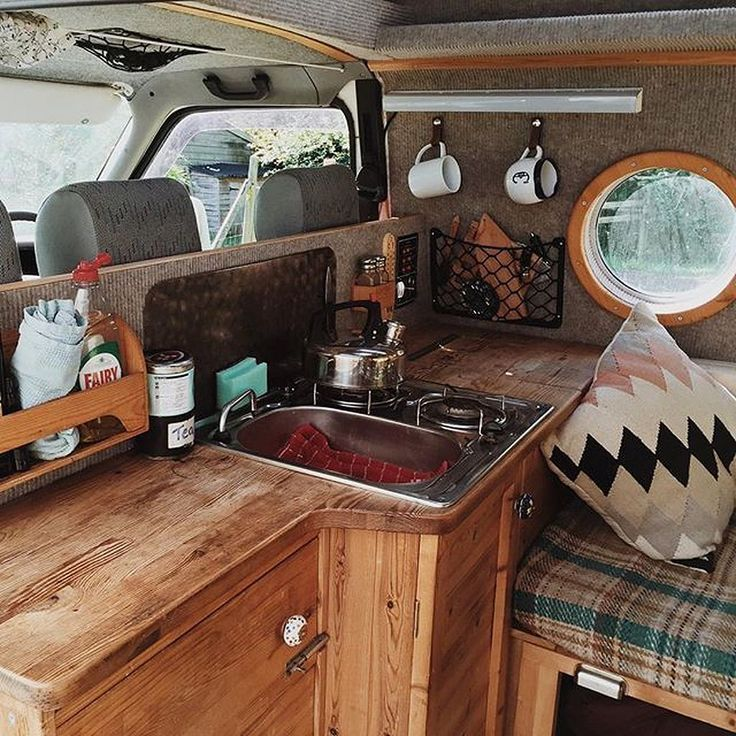17+ Interior Design Ideas For Camper Van – #Camper…