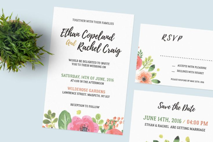 Hello guys! Hurry up and Download now Set Of Free Wedding Card Templates!  a set of beautiful wedding invitation which really suit your very spring wedding theme! With photoshop files and well organized layers that make it easier for you to customize.