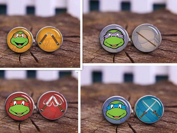 Tmnt Cufflinks tmnt tie clip don raph leo mike by timemonogram, $14.88