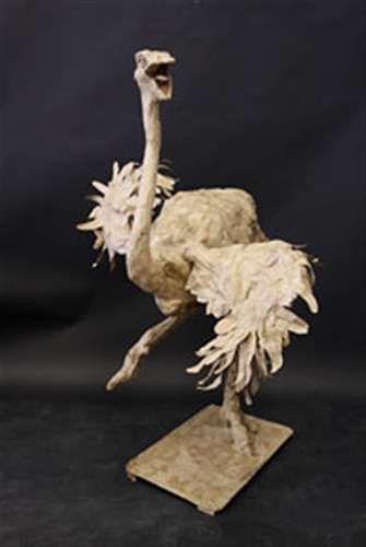 paper mache ostrich