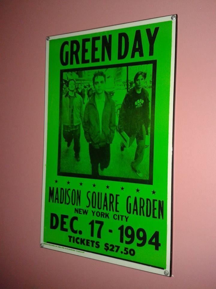 Back in the day #Green #Day concert sign in #Madison #Square #Garden on Dec. 17, #1994