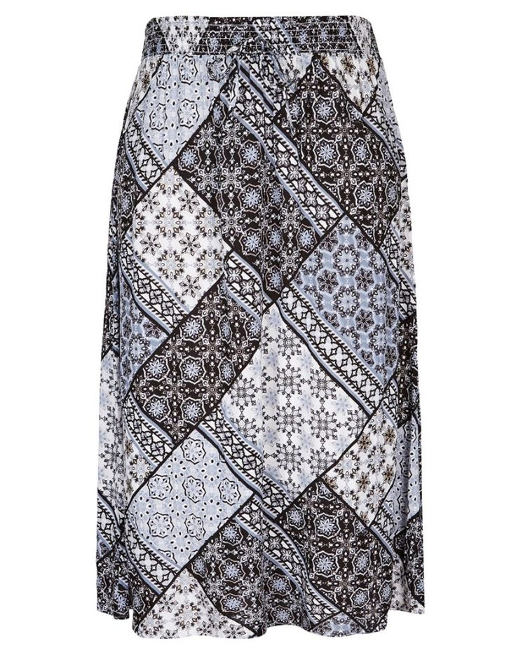 PRINT CHEESECLOTH MAXI SKIRT