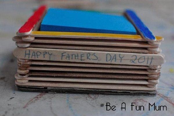 Sticky Notepad Holder - Father's Day Craft