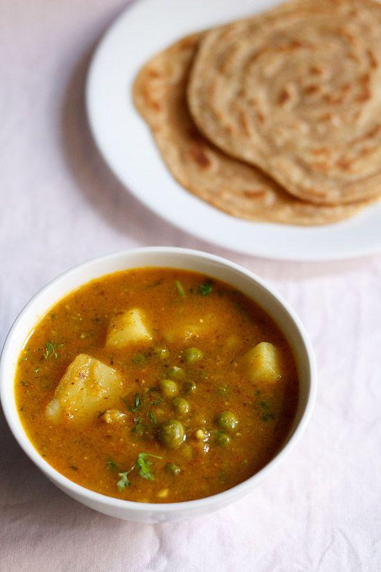 aloo matar curry recipe, aloo matar gravy recipe