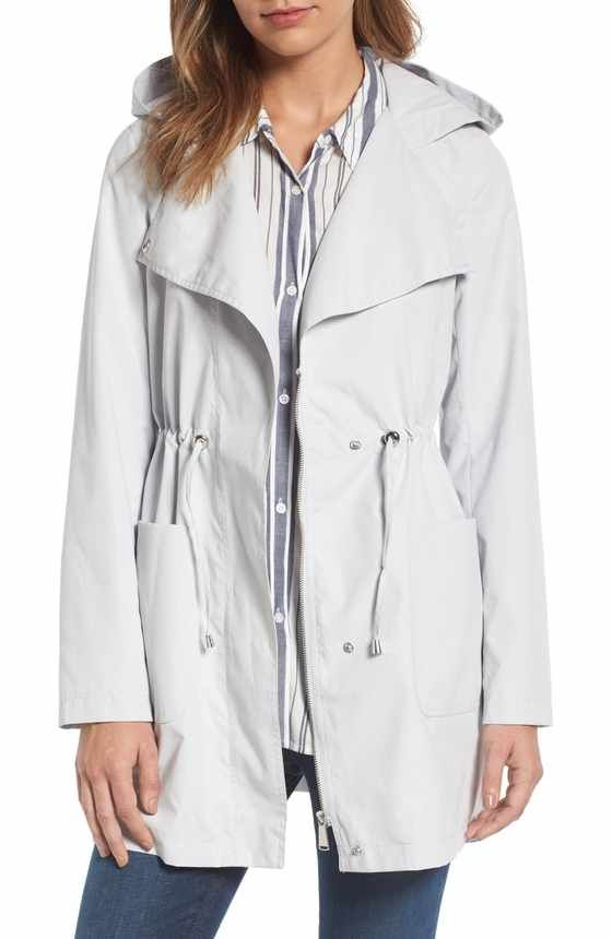 Free shipping and returns on Cole Haan Signature Back Bow Packable Hooded  Raincoat (Regular   Petite) at Nordstrom.com. An adjustable tie cinches the  back ... 6e615e3d3