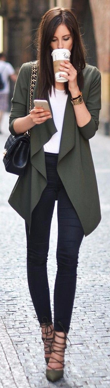 this shades of green | business outfit idea