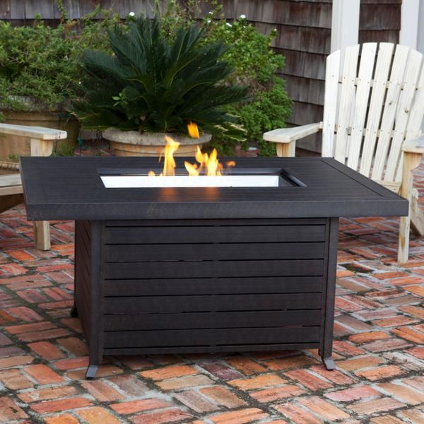 Fire Sense Propane Fire Pit Patio Table   Extruded Aluminum (#61898)