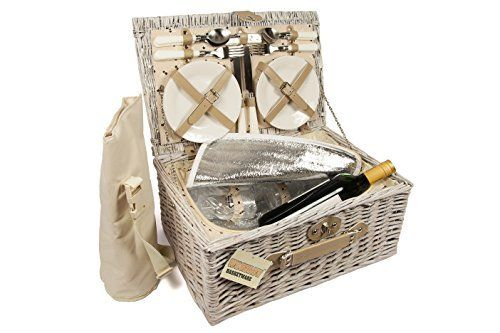 ELITEHOUSEWARES Luxury 4 Person Wicker Chiller Picnic Hamper Basket With Cooler Compartment and Bottle Cooler Bag Perfect choice for picnics and family days out (Barcode EAN = 5060397390042). http://www.comparestoreprices.co.uk/december-2016-3/elitehousewares-luxury-4-person-wicker-chiller-picnic-hamper-basket-with-cooler-compartment-and-bottle-cooler-bag.asp