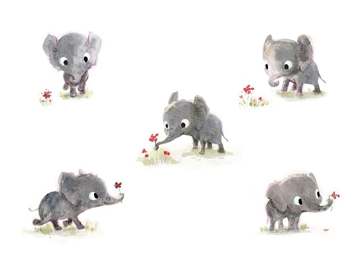 some little elephants. - illustrator website