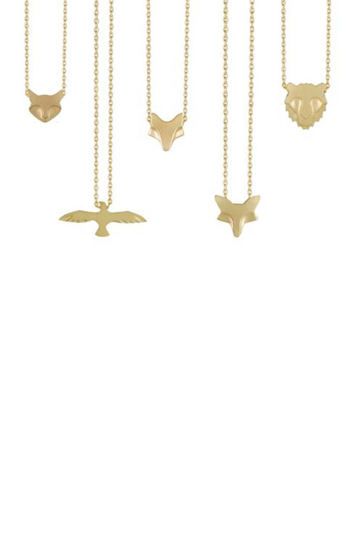 Carmen Diaz Jewelry Animal Necklace, $525; roseark.com   - ELLE.com