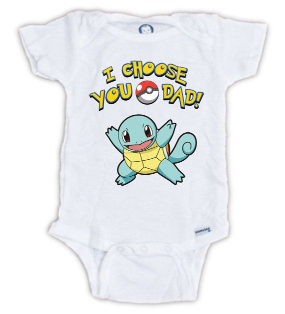 I Choose You POKEMON Baby Onesie Baby Bodysuit by JujuApparel