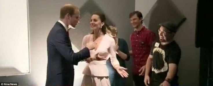 The Duchess was a much more accomplished DJ than the Duke and she urged him to have a turn after he laughed at her attempts