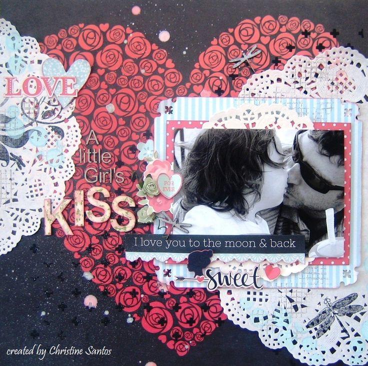 XO Layout A Little Girl's Kiss