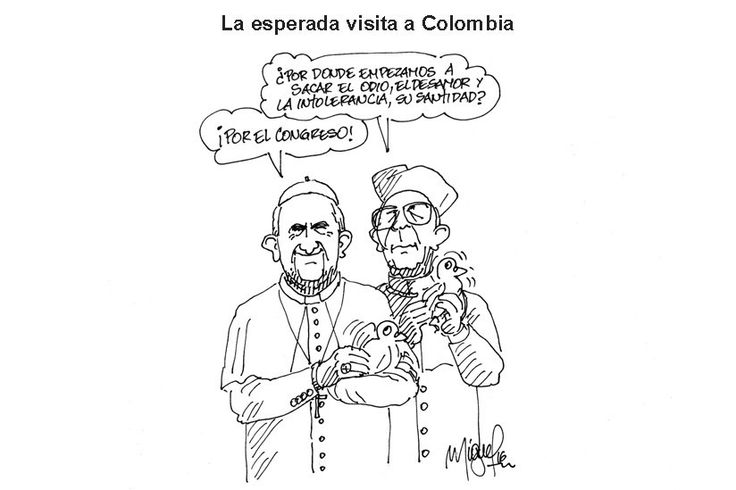 La visita del Papa.