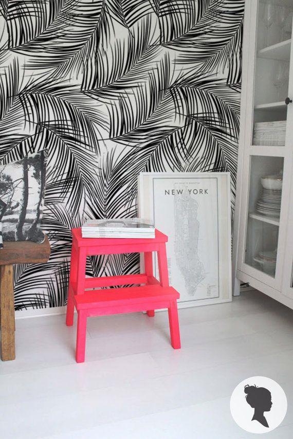 Papier peint adhésif motif palmier