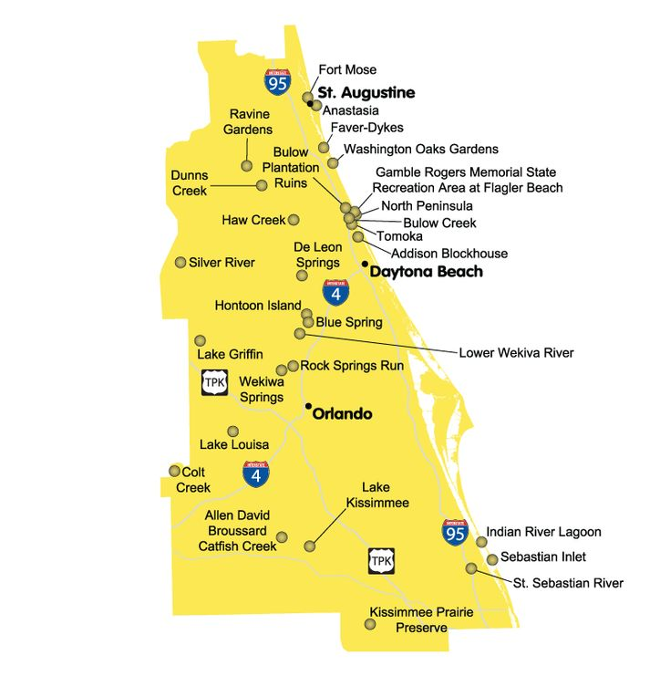 Best Map Of Florida Beaches Ideas On Pinterest Florida - Map of florida cities near orlando