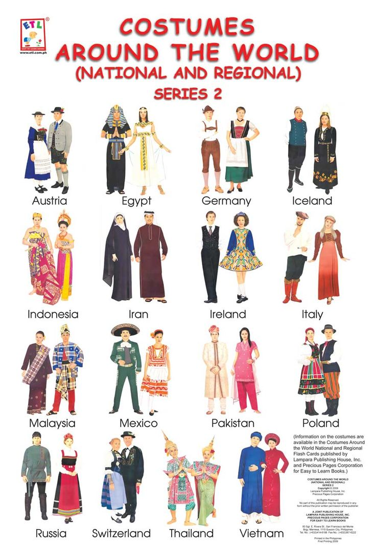 Ideas Folk Costume Game Party Themes Around The World