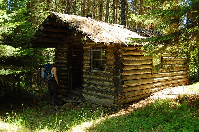 17 best images about oregon log cabins on pinterest ghost towns oregon and log cabin designs - Mountain cabin plans close to nature ...
