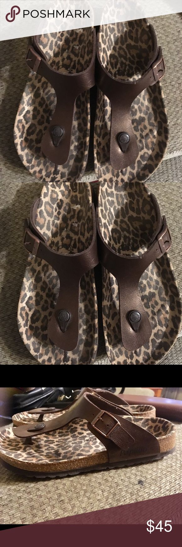 Birkenstock Papillio Gizeh Leather Sandals Size 7 Here is a Birkenstock Papillio Gizeh Leather Sandals Size 7. It is in excellent preowned condition Birkenstock Shoes Sandals