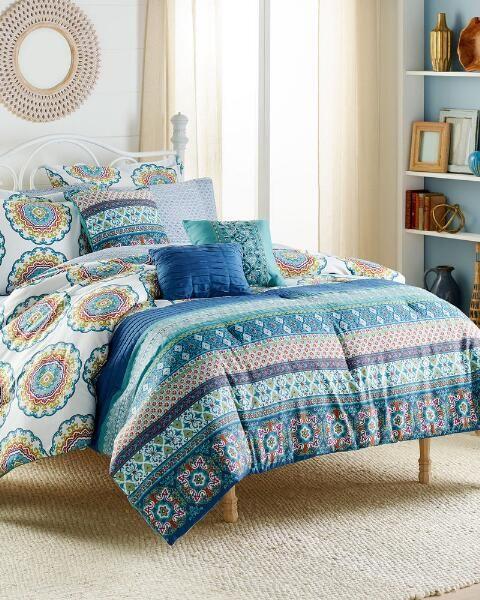 Mytex 10 Piece Ophelia Reversible Comforter Set | Queen |  polyester