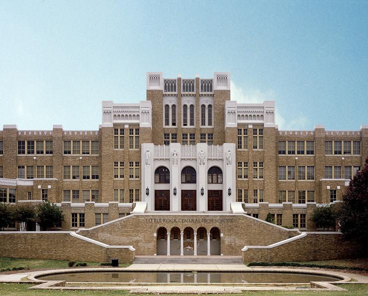Desegregation landmark, Little Rock Central High School, Little Rock, Arkansas