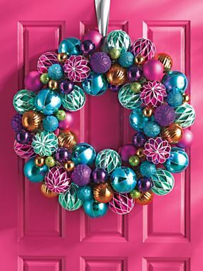 Jeweltone Wreath - Ornament Wreath - Colorful Christmas Decor | Solutions
