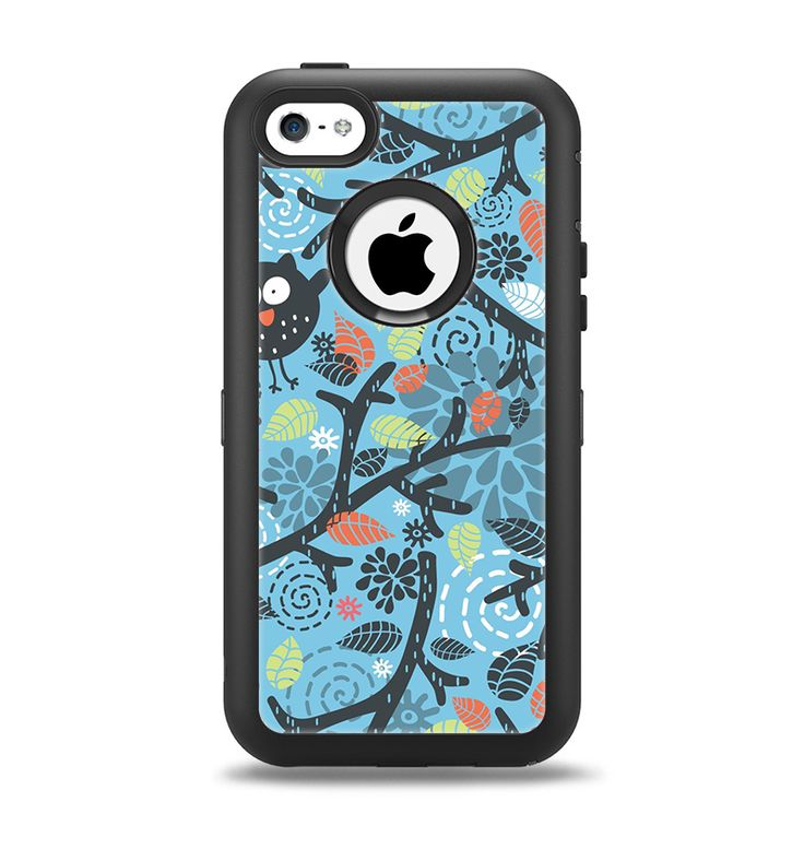 The Blue and Black Branches with Abstract Big Eyed Owls ...