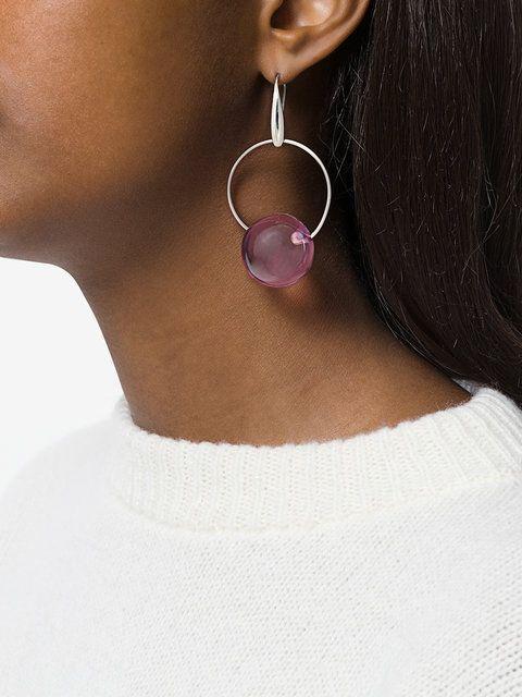 Marni hoop and sphere earrings