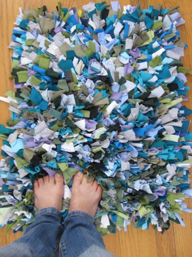 Cute rag rug, & other Ideas for Repurposing Old Clothes - Upcycling Used Clothes - Good Housekeeping