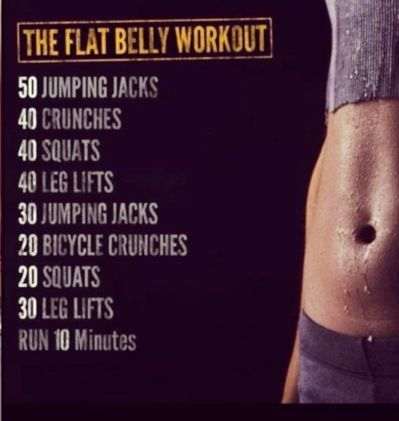 The flat belly workout
