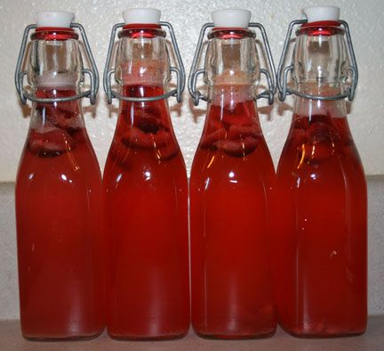 Cherry  Lemonade kefir  2 or 3 red cherries (pitted and sliced into pieces) and 1TBSP fresh lemon juice added to a 12 oz bottle of freshly fermented kefir water, 2nd ferment takes about 1 day.  makes a fizzy, tasty and healthy alternative to flavored sodas
