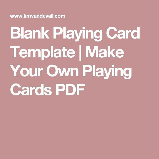 Playing Card Template Word Fresh Best 25 Blank Playing Cards Ideas On Pinterest In 2020 Blank Playing Cards Printable Playing Cards Card Template