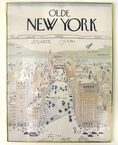 saul steinbergs famous new yorker cover from 1976 a view of the world from