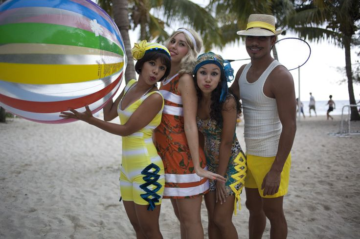 A costume party on the beach. #Iberostar #StarFriends #party #fun #colorfull #enjoy #music #dance #friends