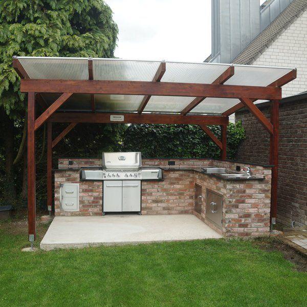 Selbstgebaute Außenküche mit Standgrill | Gartengrill ...