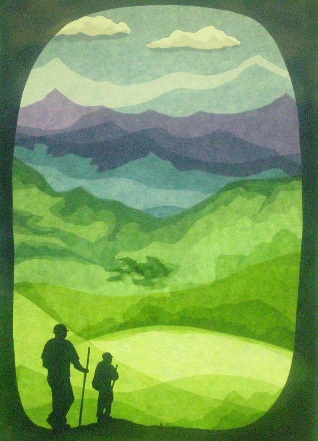 Fensterschmuck - Trecking in the hills - ein Designerstück von art4windows bei DaWanda