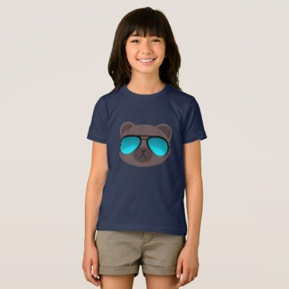 Cool Bear Emoticon Shirt - animal gift ideas animals and pets diy customize