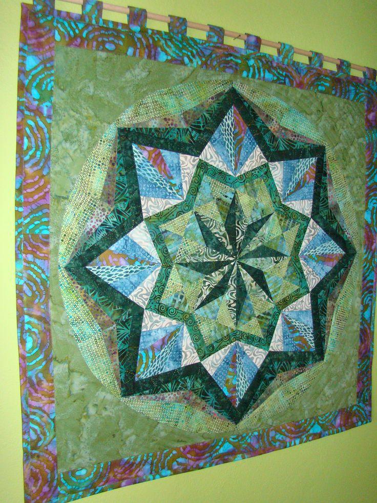Mandala- šití přes papír