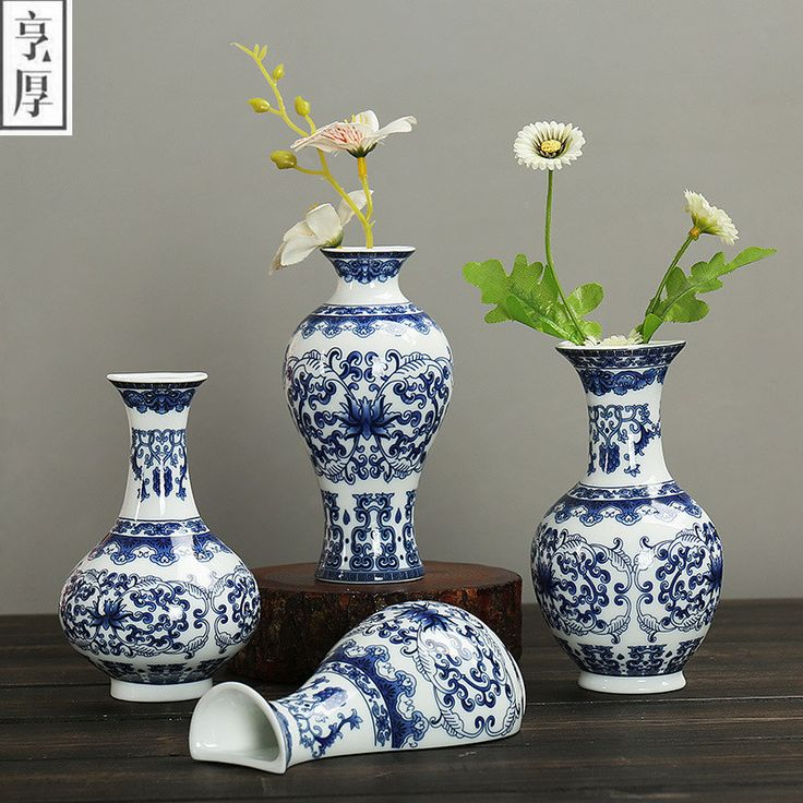 Antique Jingdezhen Ceramic Vase Chinese Pierced Vases Wedding Gifts Home Handicraft Furnishing Articles Wall type Beautiful