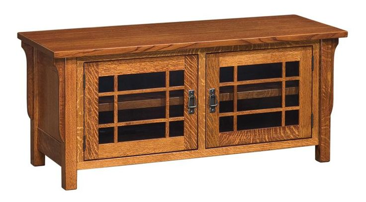 Amish lancaster mission tv stand no drawers tv stands for Mission style entertainment center plans