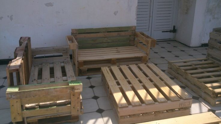 Furnitures from wooden palettes,for your balcony or garden!!