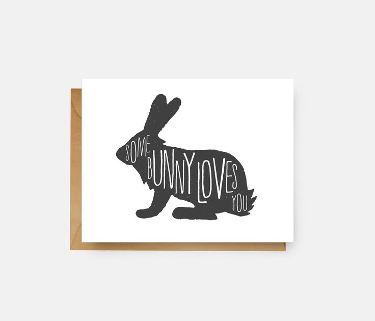 Some Bunny Loves You Card // Love Card // Funny Greeting Card // Just Because // Easter Card by TheBusyBeeCreations on Etsy https://www.etsy.com/listing/243826331/some-bunny-loves-you-card-love-card