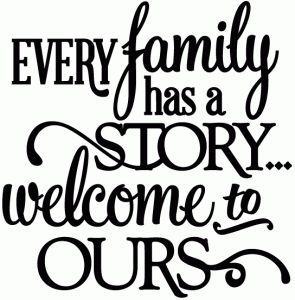 View Design: every family has a story - vinyl phrase