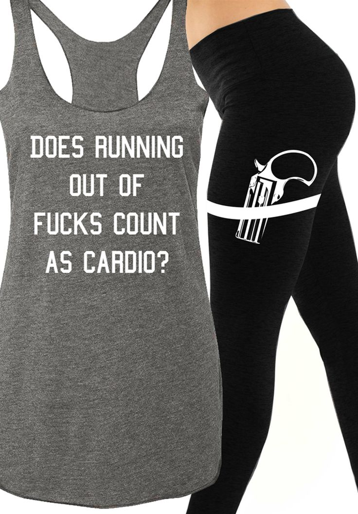 Workout Tanks and #Leggings for Women at www.NoBullWoman-Apparel.com Gym Class Tank = https://nobullwoman-apparel.com/products/copy-of-gym-class-tank-top-heather-gray