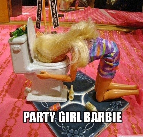Party Girl Barbie Funny Meme