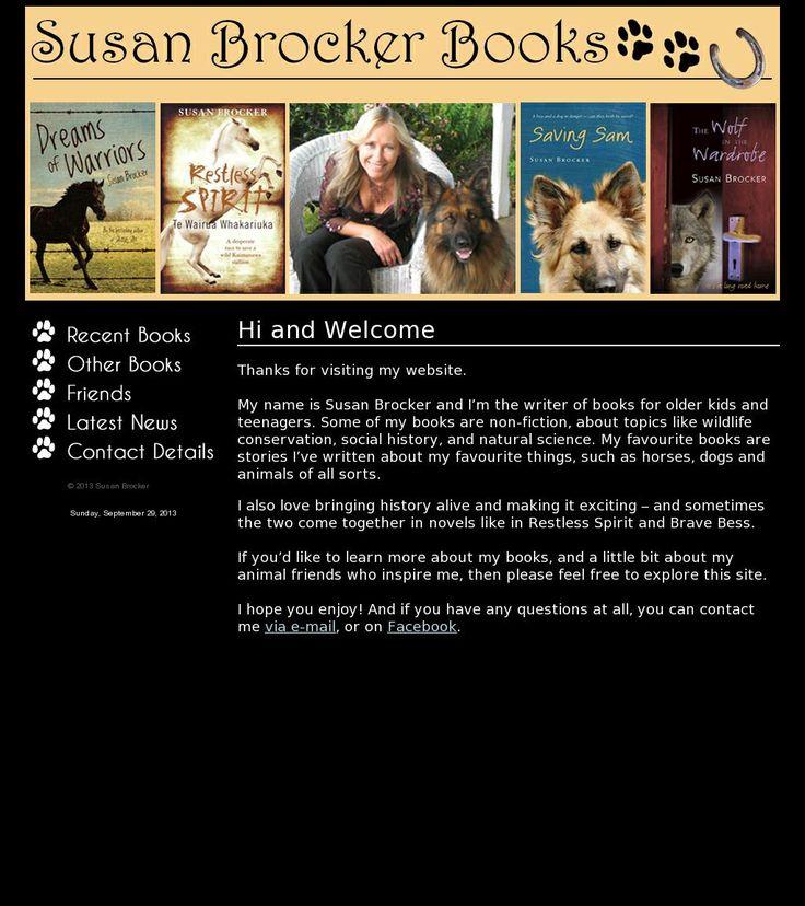 The website 'http://www.susanbrocker.com/' courtesy of @Pinstamatic (http://pinstamatic.com)